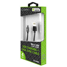 Cellet 4 Ft Premium Micro USB Charging Data Sync Cable Cord Charger For Phones