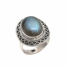 LABRADORITE SOLID 925 STERLING SILVER GREAT RING CUSTOM SIZE 5,6,7,8,9,10