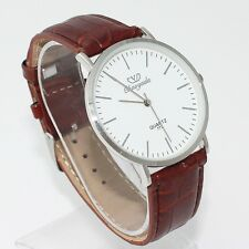 Brand Fashion Young Men Boy Leather Quartz Casual Dress Analog Wristwatch U62