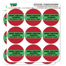Merry Christmas Red Green Personalized Planner Calendar Scrapbooking Stickers