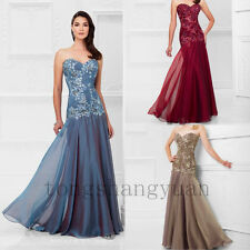 Mermaid Applique Mother Of The Bride Dresses For Lady Formal Occasion Strapless