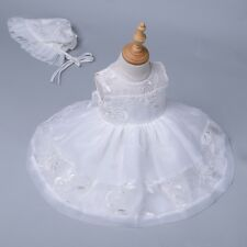 New Baby Girls Baptism Christening Dedication Wedding Flower Girl Tutu Dress
