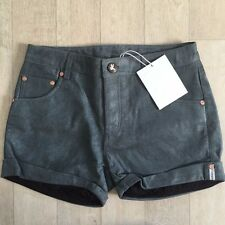 ONE TEASPOON SHORTS Sz XS, S GRAY SUEDE LEATHER CHARGES NWT LAST ONES