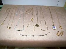 VINTAGE LOT OF 10 AVON PIECES ~NECKLACES~EARRINGS~BRACELET~ALL VINTAGE & MARKED