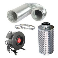 """6"""" inch Inline Fan + Carbon Air Filter + Ducting Combo"""
