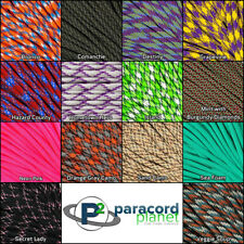 Paracord Planet 550 Type III 7 strand parachute cord -NEW Colors 10 20 50 100ft