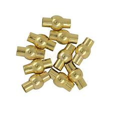 10Pcs/Lot Metal Filled Leather Kumihimo Glue Tube Barrel Magnetic Clasps 4mm