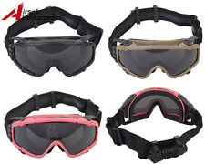 Tactical Airsoft Paintball Military Hunting Safety Goggle Glasses W/Fan Version