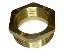 BRASS BSPP REDUCING HEXAGON BUSH MALE TO FEMALE ADAPTOR VARIOUS SIZES