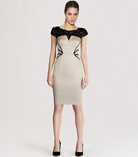KAREN MILLEN BNWT £190 Satin Lace Corset Pencil Evening Wiggle Party New Dress