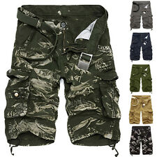 MEN'S Cargo Shorts Pants Bermuda Pants Military Style Camouflage Camo Trousers *