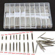 Silver 8-25mm Watchmaker Repair Tools Kit Watch Band Spring Bars Strap Link Pins