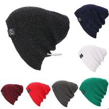 New Unisex Beanie Hat Unisex Women Men Fashion Stretch Long Knit Winter ES9P