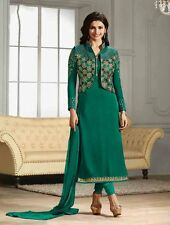 Bollywood Party Wear Designer Green Semi Stitched Georgette Salwar Suit