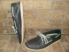 Sperry Top-Sider Authentic/Original 2 Eye Leather Boat Shoe/0191312/ Black/Nice!