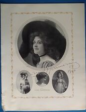 Authentic Mary Mannering autograph Actress stage theater play Broadway show 1910