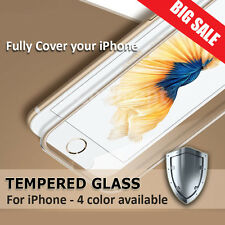 Full Coverage Metal Tempered Glass Screen Protector for iPhone 6 6S 7 Plus