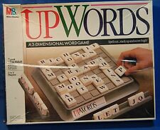 1988 Milton Bradley UPWORDS 3 Dimensional Word Game Spell Out Stack Up Score