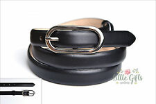 Black Womens Genuine Quality Leather skinny belt S M L NEW Fashion corporate