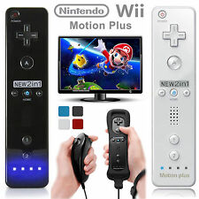 Built in Motion Plus Remote with Nunchuck Controller+Case for Nintendo Wii&Wii U