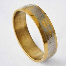 Authentic Fashion Mens yellow Gold Plated/Silver dragon Ring Size 8 9 10 11