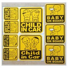 Set 4-12 of Baby On Board Child in Car Family Safety Truck Vinyl Stickers