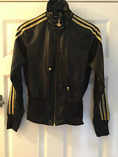 ADIDAS missy elliot Respect Me Zip Up Jacket - Black / Gold - size 10