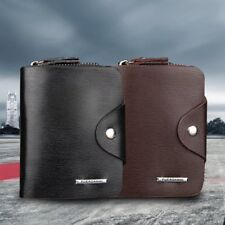 Multifunction Hasp Open Wallet Men PU Leather Men Wallets Purse Short F5