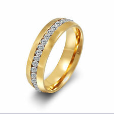 Fashion Free Shipping crystal Stainless Steel Ring Mens Jewelry Titanium Ring
