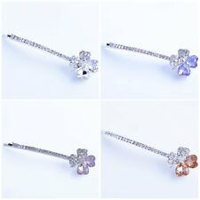 head jewelry Womens Gold Plated Crystal crystal Flower hair Pin wedding