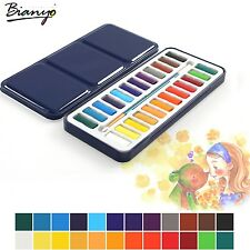 Portable Watercolor Paints Set Tin Box Solid For Artist Student Drawing Paintin