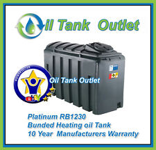 Domestic Heating Oil Storage Tank 1230 Rectangular Bunded Platinum with options