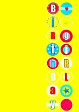 """KIDS """"BIRTHDAY GIRL"""" CELEBRATION ANY AGE YEARS GREETING CARD-SEND DIRECT FREE :)"""