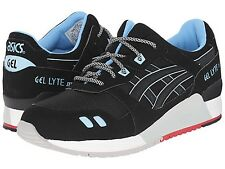 ASICS H637Y.9090 GEL-LYTE III Mn's (M) Black/Black Mesh/Synth Athletic Shoes