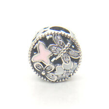 Genuine S925 Sterling Silver Springtime Mixed Enamels & Clear CZ Charm bead
