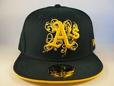 MLB Oakland Athletics New Era 59FIFTY Fitted Hat Cap Scratches Green