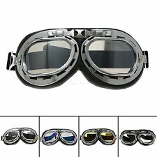 Silver Anti UV Fog Wind Outdoor Sports Protective Glasses Motorcycle Goggles