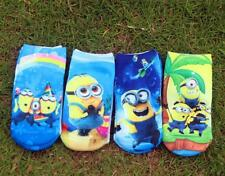 New Despicable Me Minions Kids Boys Girls Warm Ankle Short Socks