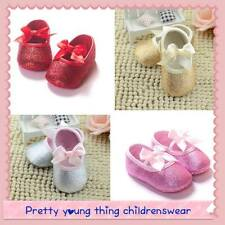 Beautiful baby girls gold/silver sparkly glitter shoes 0-18 months sizes
