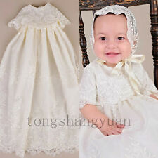 Baby Baptism Gown For Girl Boy Lace Applique Infant Christening Dresses 2017 New