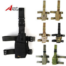 1000D Tactical Military Airsoft Pistol Drop Leg Thigh Holster Pouch Right Hand