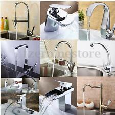 Modern Faucet - Kitchen Sink Pull Out Single Handle Chrome Brass Lever Spray Tap
