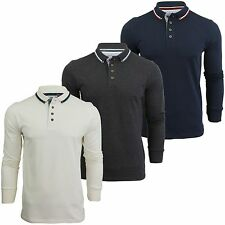 Mens Polo T Shirt Brave Soul 'Smedley' Collared Long Sleeved Top New S-XXL