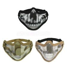 Tactical Half Face Metal Mesh Mask Hunting Sports Protective Military Skull Mask