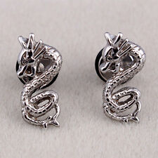 Gothic Punk Stainless Steel Mens Ear Stud Women Fashion Cute Dragon Earrings