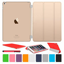 Slim Smart Magnetic Leather Cover Hard Back Case For Apple iPad Air 1 2 3 4 mini