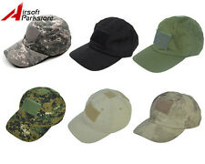 Tactical Military Adjustable Snapback Baseball Cap Hat w/ Loop Attachment Base