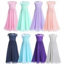 Floral  Lace Baby Princess Bridesmaid Flower Girl Dresses Wedding Formal Party