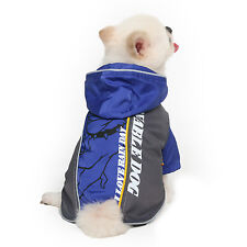 Small Dog Pet  Waterproof Raincoat with Hood in Red, Blue or Yellow