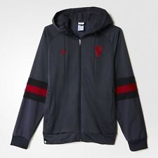 Adidas Mens Manchester United Football Club Full Zip-Up Hoodie Size M